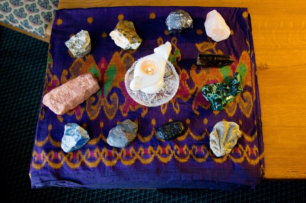 Marcus' shamanic healing mesa.